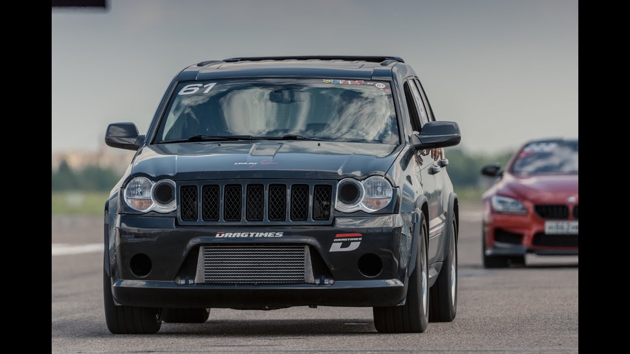 Custom Jeep Grand Cherokee >> Fastest and quickest Jeep SRT8 on 1000 m. - YouTube