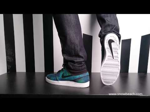 Nike sb LUNAR STEFAN JANOSKI Mid black black white 683684 ...