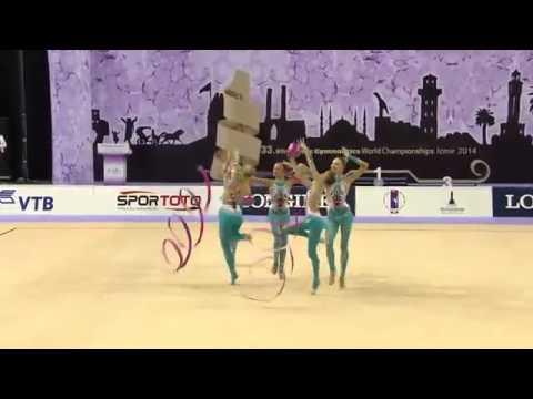 WC 2014 Izmir All-around Russia 3 balls 2 ribbons