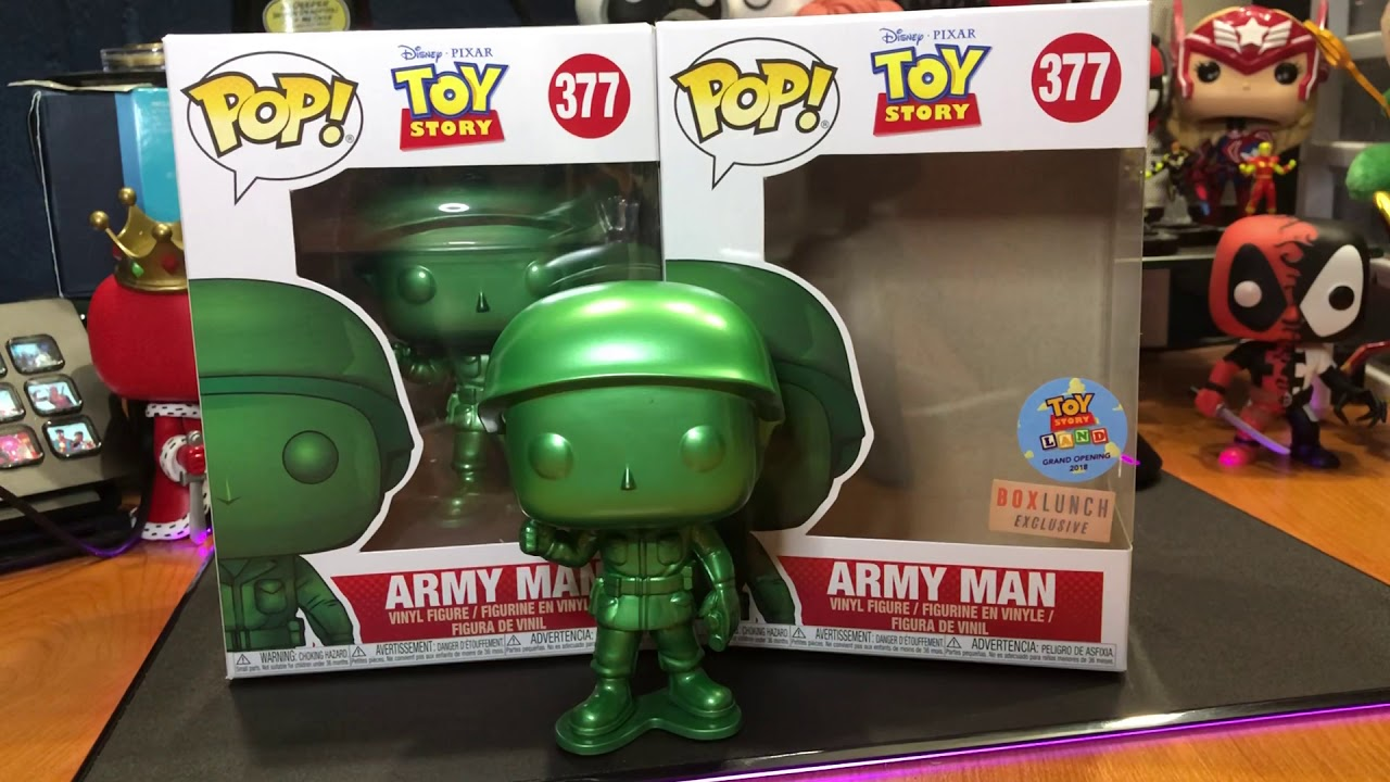 Funko Pop Toy Story Metallic Army Man Figure Unboxing Boxed Lunch