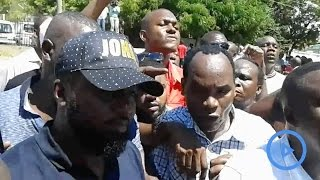 Joho supporters storm police headquarters