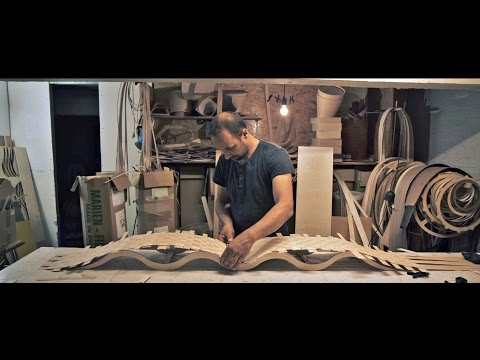 Lighting designer - Passion 4 Wood - building a wave lamp in wood.