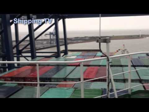 Aboard the mighty CSCL Globe at Felixstowe