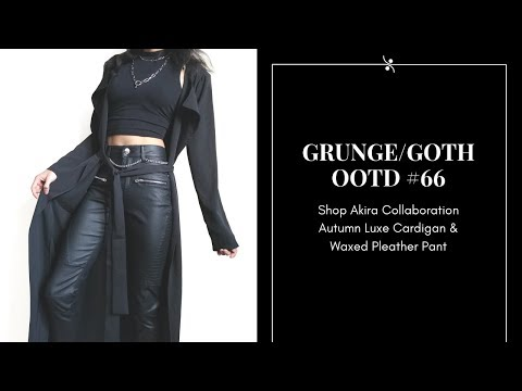 69a2bd3852 Grunge Goth Outfit 66 ~ Shop Akira Collaboration ~ Autumn Luxe Cardigan &  Waxed Pleather Pant