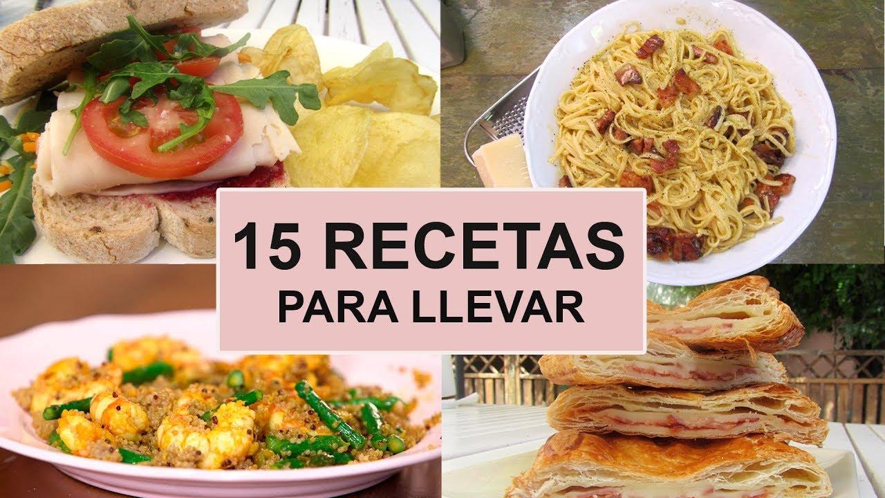 15 Recetas PARA LLEVAR AL TRABAJO  Ideas de comidas para