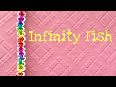 Rainbow Loom Bands Infinity Fish Bracelet Tutorial