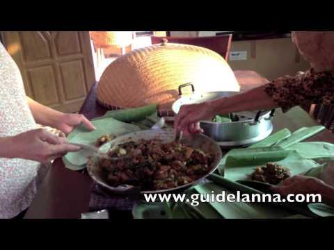 วิธีทำ ห่อนึ่งไก่เมือง Thai Steamed chicken with curry paste