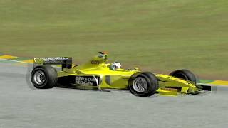 [F1C] Jordan-Ford EJ13 @Interlagos with Giancarlo Fisichella (Mod RH2003) [HD]