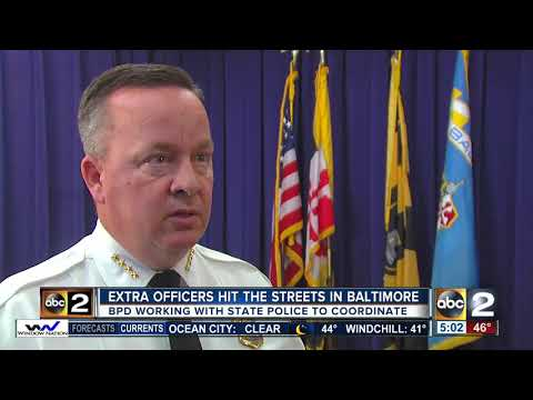 Baltimore Police coordinating extra state police officers in crime fight