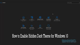How to Enable Hidden Dark Theme for Windows 10