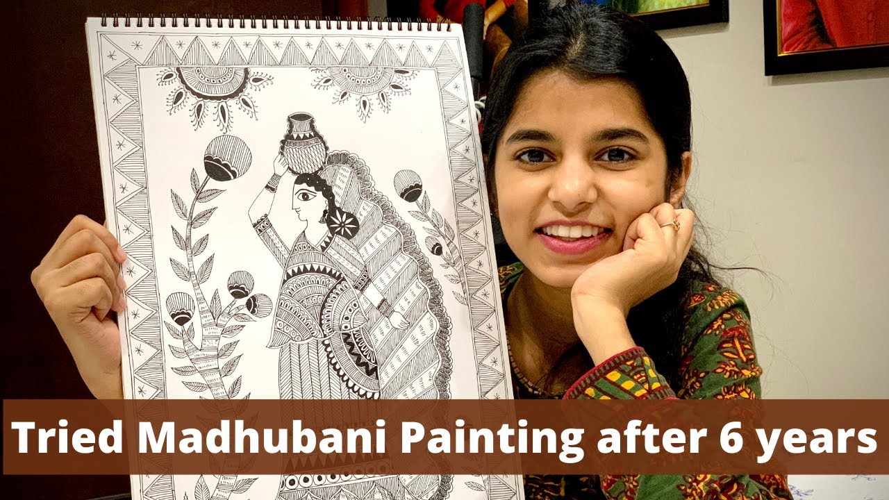 My Quarantine Art || Madhubani Painting by Maithili || Maithili's Vlogs