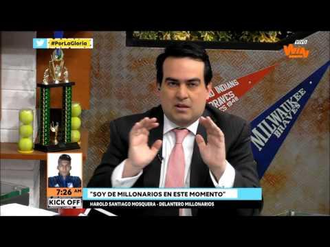 Santiago Mosquera: El árbitro nos metió poco a poco; era penalti sobre Duvier