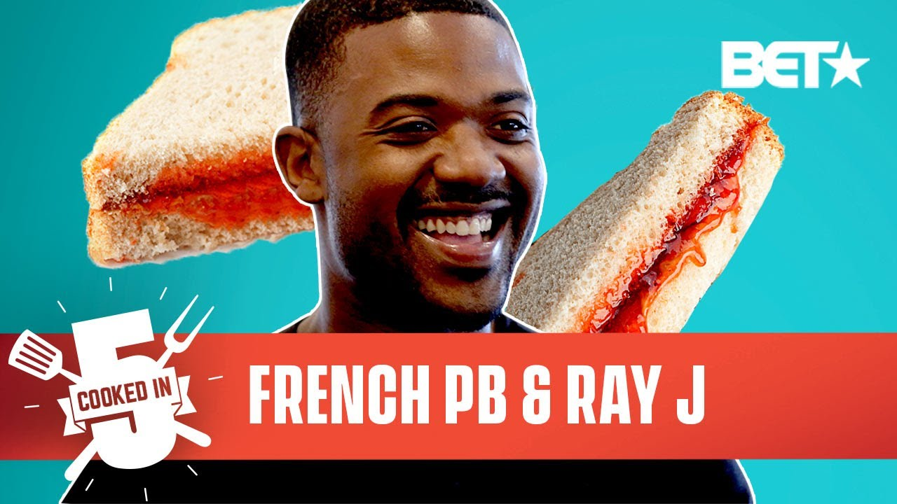 Watch Ray J Make His French Toast PB&J Recipe In Only 5 Minutes!   Cooked In 5