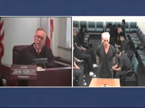 Judge Hurley in Broward Bond Court with David Hall