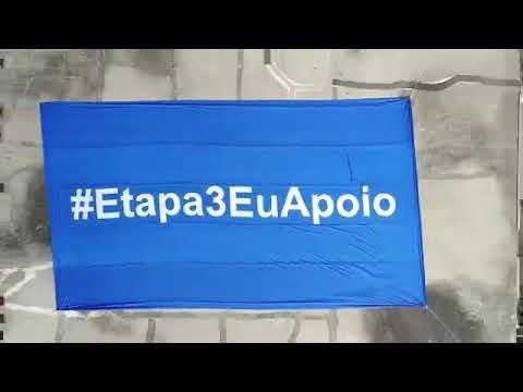 Bandeirão #Etapa3EuApoio