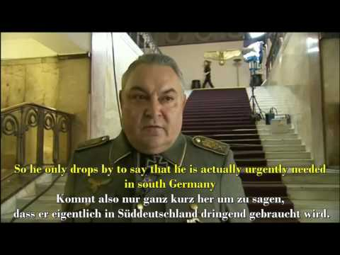 Mathias Gnädinger / Hermann Göring Interview with English / German subtitles