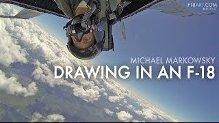 Drawing at the Speed of Sound in an F-18 Fighter Plane (FULL-LENGTH) (2013)
