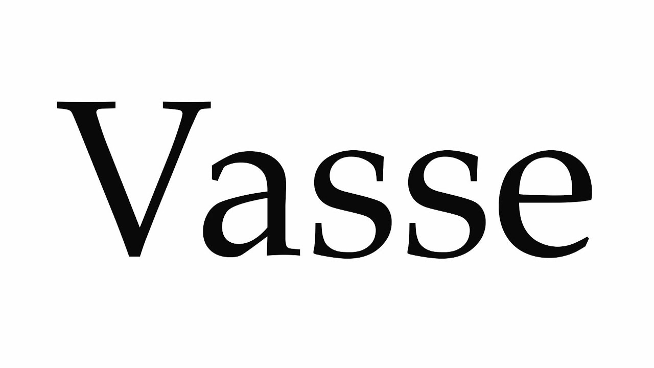 Flower vase pronunciation - How To Pronounce Vasse