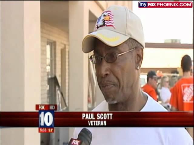 FOX NEWS: Volunteers Help Renovate Home for Veterans - U.S.VETS- Phoenix