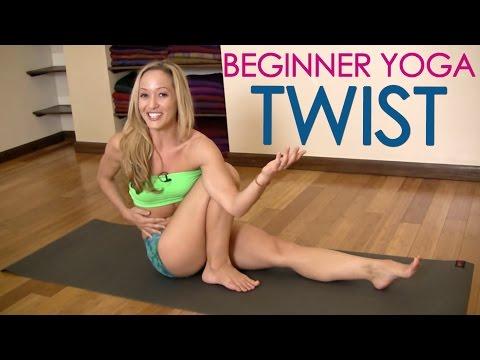 Beginner Yoga Twisting, Marichasana C with Kino