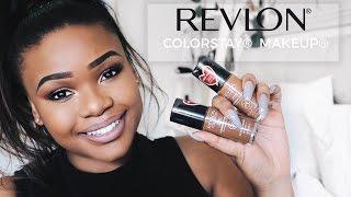 Revlon® ColorStay® Makeup | Unboxing, Tutorial & Review | Cynthia Gwebu