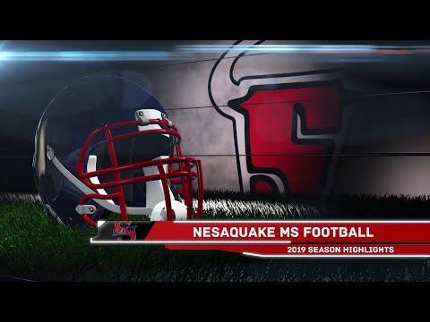 Nesaquake Middle School Football 2019 Season Highlights