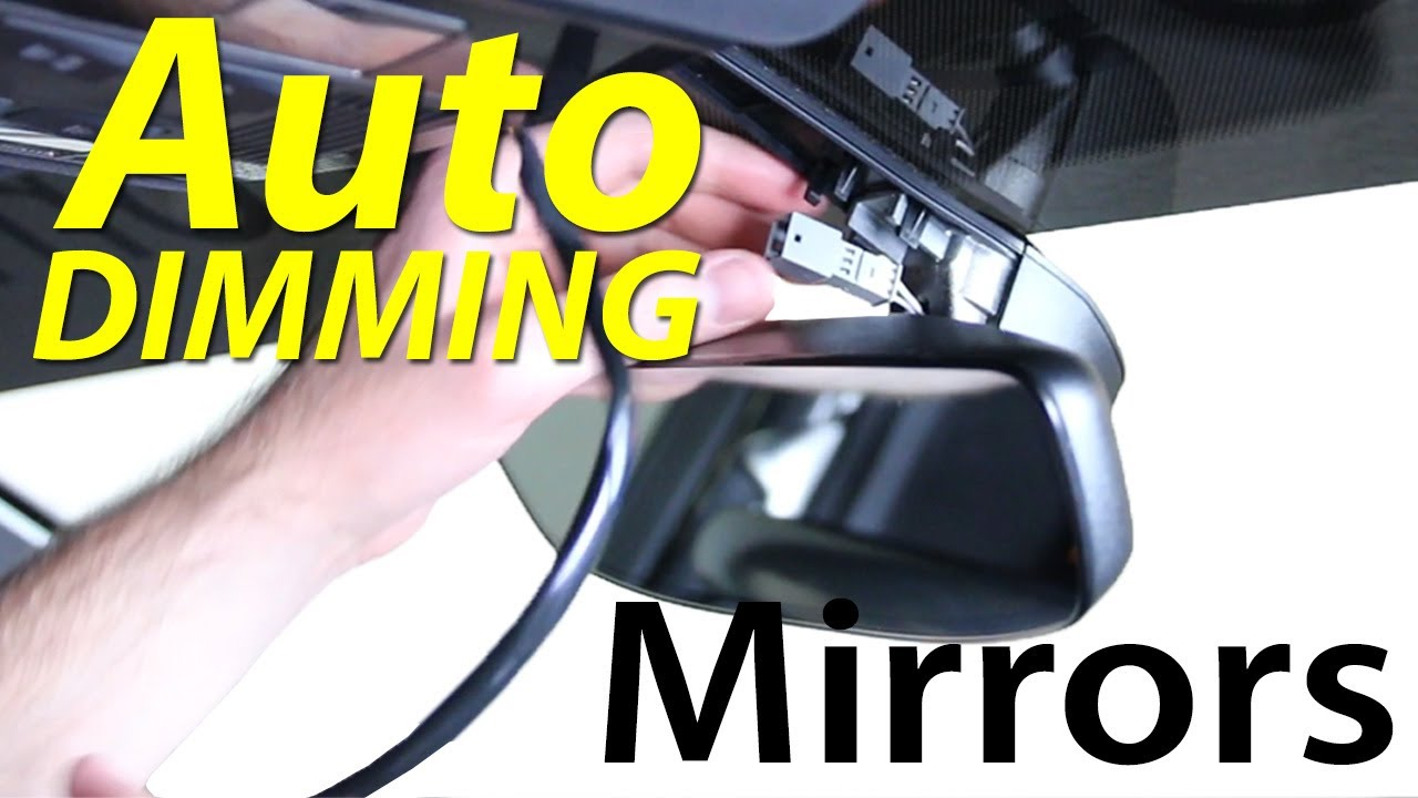 medium resolution of mk7 auto dimming homelink rear view mirror diy