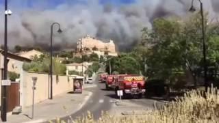 Incendie du plateau de Vitrolles 10 août 2016