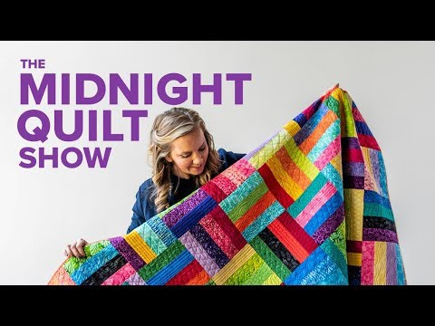 A Scrappy Stash-Buster Quilt Pattern   S7E7 Midnight Quilt Show with Angela Walters
