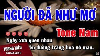 Karaoke Người Đã Như Mơ Tone Nam Nhạc Sống   Trọng Hiếu