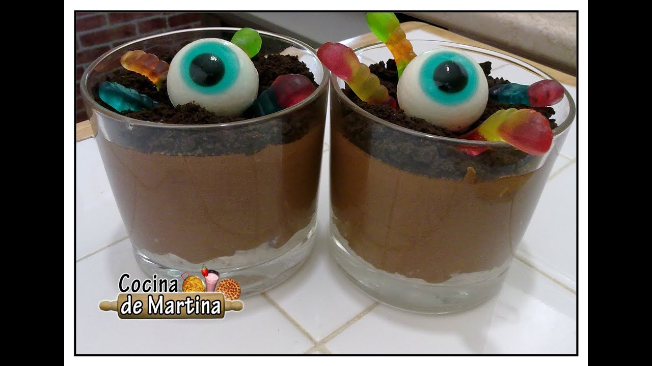 Mousse de chocolate con gusanos recetas para halloween for Cocina de martina