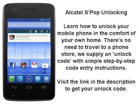 alcatel sim me unlock code