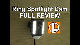 Ring Spotlight Camera Review - Unboxing, Features, Setup, Settings, Installation, Video Footage