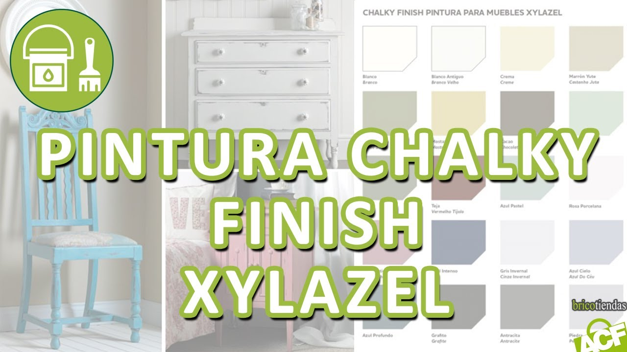 Bricotiendas  Pintura efecto tiza Xylazel CHALKY  YouTube