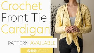 Crochet Front Tie Cardigan | Pattern & Tutorial DIY