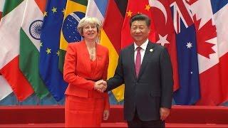 Theresa May faces world leaders at G20 summit
