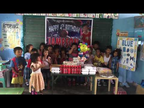 Emsons 4th birthday at San Isidro Elementary School