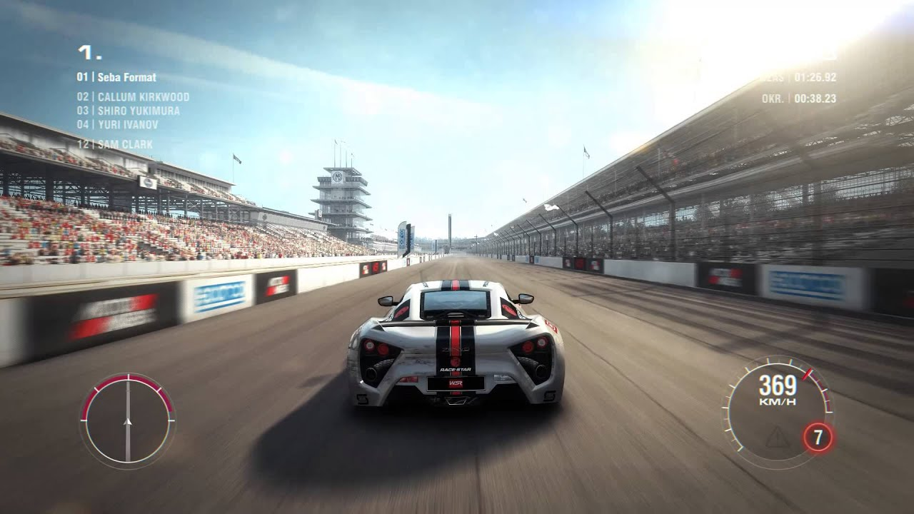GRID 2 ZENVO ST1 TOP SPEED 60 FPS - YouTube