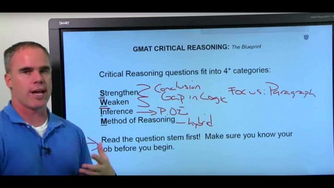 GMAT Critical Reasoning Question Type (Video)   PrepAdviser com