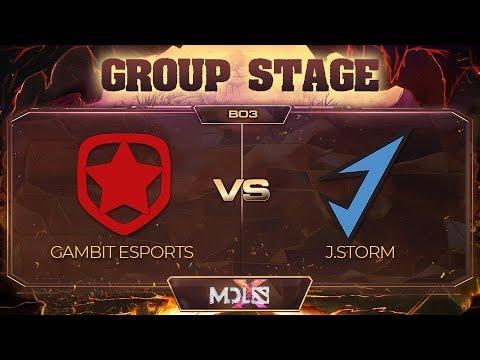 Gambit Esports vs J.Storm vod