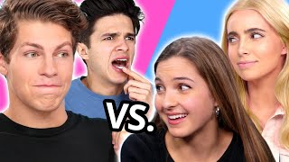 GIRLS VS GUYS Challenges w/ Ben Azelart, Brent Rivera, Lexi Rivera, Lexi Hensler & MORE
