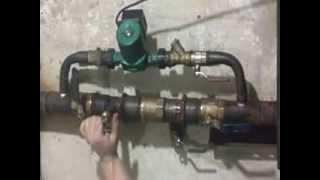 Принцип работы байпаса с латунным обратным клапаном производства СТА