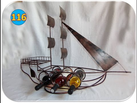 Making a sail ship wine rack