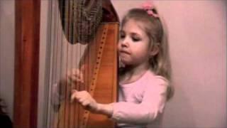 G. Haendel - Harp Concerto 1st. p. Alisa Sadikova - 7 years old harpist