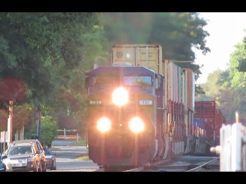 14 TRAINS!!!!!! Double Stack Intermodal! - Train Races & Meets - Everything A Railfan Wants! 5-13-17