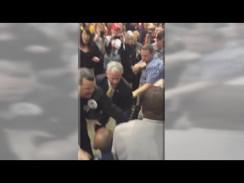Donald Trump supporters, protester clash at rally
