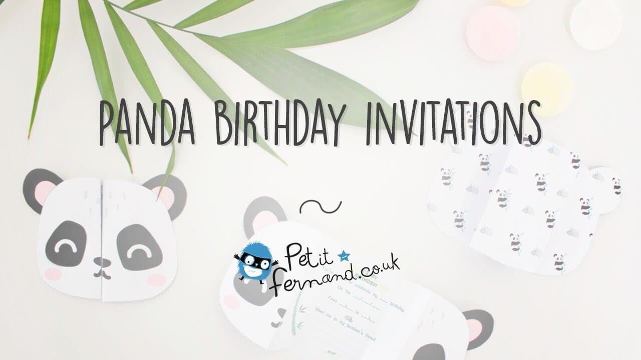 DIY Panda Birthday Invitations l Petit-Fernand - YouTube