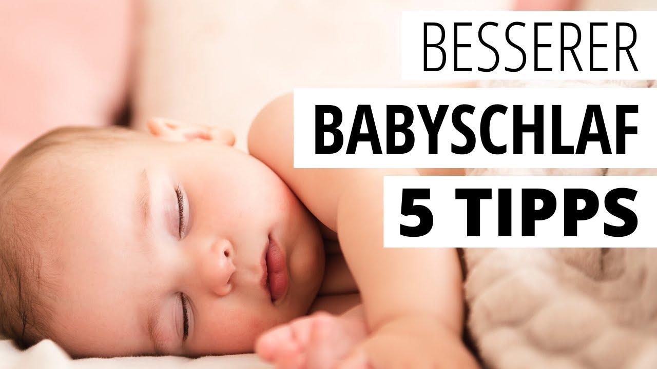 BABY SCHLAFEN: 5 Tipps, damit Neugeborene besser einschlafen - SO geht ruhiger Babyschlaf!