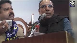 Satveer Gurjar, Ex BSP MLA speaks during BSP Members Convention at Awadh Greens   Gr Noida