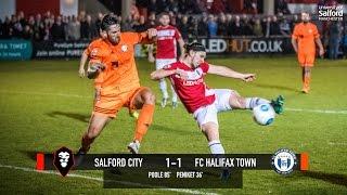 Salford City 1-1 FC Halifax Town - National League North play-off semi final first leg